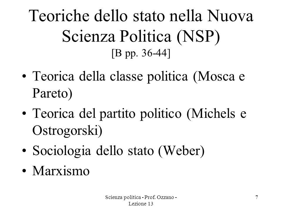 Teoriche dello stato nella Nuova Scienza Politica (NSP) [B pp. 36-44]